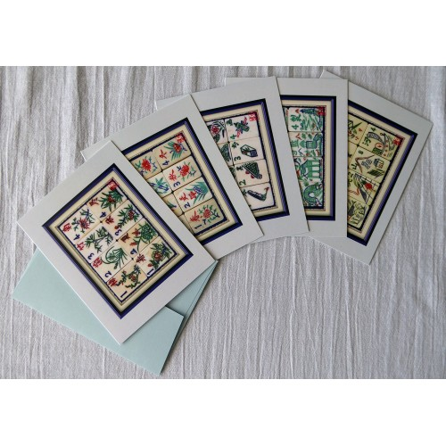 mahjongtileartcards™ - Bone and Bamboo Flowers and Seasons (2020)