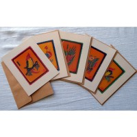 mahjongtileartcards™ - Vintage/Retro Catalin One-Bams (2020)